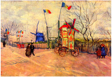 Vincent Van Gogh Street Scene in the Montmartre Le Moulin a Poivre Art Print Poster Prints