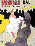 TOULOUSE-L Moulin Rouge Poster Art Print PARIS Girl Masterprint