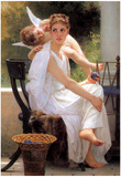 William-Adolphe Bouguereau Work Interrupted Art Print Poster Print