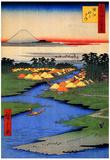 Utagawa Hiroshige Horie and Nekozane Art Print Poster Posters