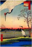 Utagawa Hiroshige Mikawashima Crane Art Print Poster Posters