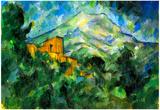Paul Cezanne St. Victoire and Chateau Noir Art Print Poster Prints