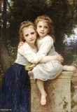 William-Adolphe Bouguereau Two Sisters Art Print Poster Masterprint