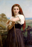 William-Adolphe Bouguereau Young Shepherdess Art Print Poster Masterprint