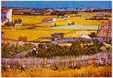 Vincent Van Gogh The Harvest Art Print Poster Poster