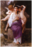William-Adolphe Bouguereau Leveil du Coeur Art Print Poster Prints