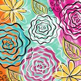 Fleurs de Jardin I Prints by Rebecca Lyon