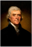 Thomas Jefferson Portrait Historic Art Print Poster Photo