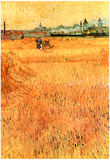 Vincent Van Gogh Arles View from the Wheat Fields Art Print Poster Posters