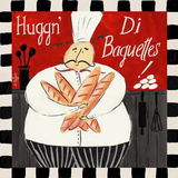 Baguette Square Posters by Rebecca Lyon