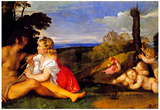 Titian The Three Ages of Man Art Print Poster Posters