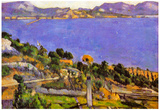 Paul Cezanne L'Estaque Vue du Golfe de Marseille 1878 Art Print Poster Poster