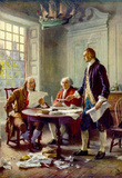 Writing the Declaration of Independence Historical Art Print Poster Masterprint