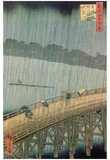 Utagawa Hiroshige (Sudden Shower) Art Poster Print Posters
