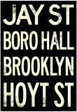 New York City Brooklyn Jay St Vintage RetroMetro Subway Poster Posters