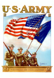 U.S. Army Guardian of the Colors WWII War Propaganda Art Print Poster Prints