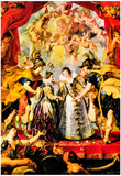 Peter Paul Rubens Replacing the Medici Princess Art Print Poster Prints