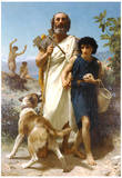 William-Adolphe Bouguereau Homer and his Guide 1874 Art Print Poster Print