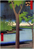 Utagawa Hiroshige Akasaka Kiribatake Art Print Poster Posters