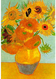 Vincent Van Gogh Still Life Vase with Twelve Sunflowers 2 Art Print Poster Masterprint