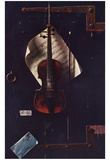 William Michael Harnett (The old violin) Art Poster Print Prints
