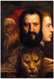 Titian An Allegory of Prudence Art Print Poster Print