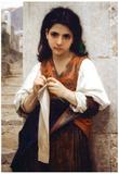 William-Adolphe Bouguereau Tricoteuse Art Print Poster Poster