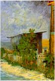 Vincent Van Gogh Montmartre Path with Sunflowers Art Print Poster Prints
