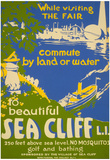 Visit Beautiful Sea Cliff Long Island NY Tourism Vintage Ad Poster Print Prints