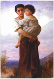 William-Adolphe Bouguereau Young Gypsies Art Print Poster Photo