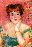 Pierre-Auguste Renoir (Portrait of Jeanne Samary) Art Poster Print Prints