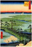 Utagawa Hiroshige Moto-Hachiman Shrine Art Print Poster Prints