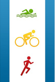 Triathlon Sports Poster Print Masterprint