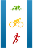 Triathlon Sports Poster Print Plakater