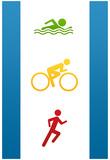 Triathlon Sports Poster Print Posters