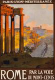 Rome Italy Tourism Travel Vintage Ad Poster Print Masterprint