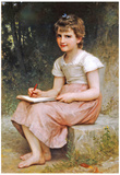 William-Adolphe Bouguereau A Calling 1896 Art Print Poster Posters