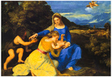 Titian The Virgin and Child Art Print Poster Photo