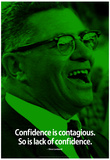Vince Lombardi Confidence iNspire Quote Poster Poster