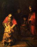 Rembrandt Harmensz. van Rijn (Return of the Prodigal Son) Art Poster Print Masterprint