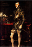 Titian Philip II Art Print Poster Prints