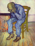 Vincent Van Gogh (Old Man in Sorrow, or On the Threshold of Eternity) Art Poster Print Masterprint