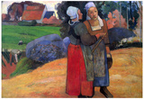 Paul Gauguin Breton Farmers Art Print Poster Prints