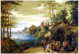Pieter Brueghel the Younger Christ Art Print Poster Print