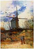Vincent Van Gogh Le Moulin de la Galette 2 Art Print Poster Prints