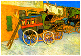 Vincent Van Gogh The Coach of Tarascon Art Print Poster Prints