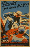 US Navy (Build for your Navy!) Art Poster Print Masterprint