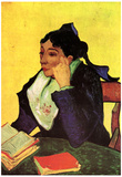 Vincent Van Gogh L'Arlesienne Madame Ginoux with Books Art Print Poster Prints