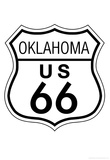Oklahoma Route 66 Sign Art Poster Print Posters