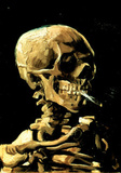 Vincent Van Gogh (Skull with Cigarette) Art Print Poster Masterprint